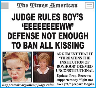 Judge rules eeeeew factor not enough to ban kissing