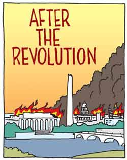 After the revolution, Washington burns
