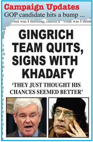 Gingrich Team Quits, Signs with Khadafy