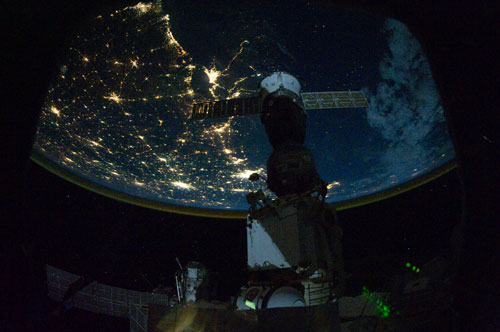 Night on the Space Station