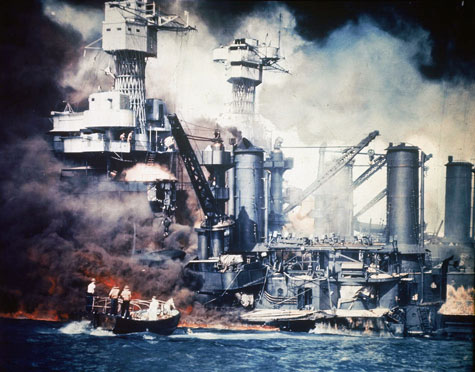 Rescue during Pearl Harbor attack