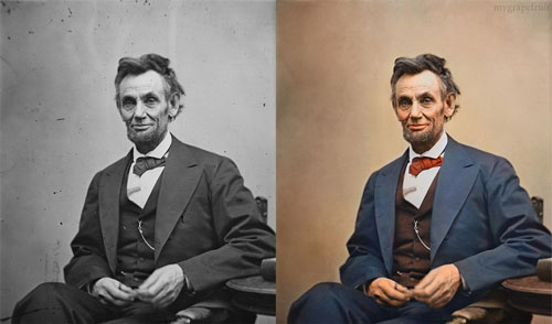 Lincoln Colorized